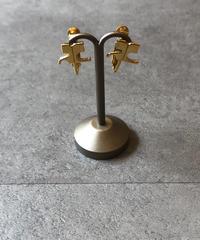 courreges/vintage logo  gold earring