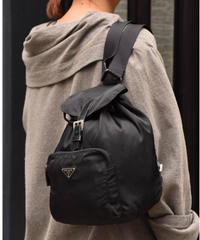 PRADA / vintage nylon one pocket backpack.(U)