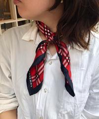 Burberry/ vintage check silk scarf.421014 C