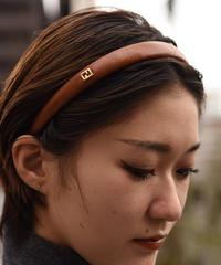 FENDI/vintage logo leather headband.