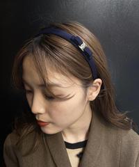 Salvatore Ferragamo/mini vara ribbon  headband (navy).  4