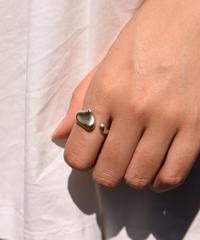 Tiffany&Co. / vintage silver full heart ring.