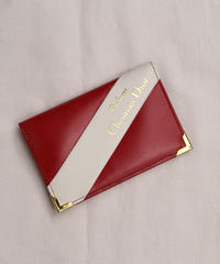 Christian Dior Parfums/red color card case.