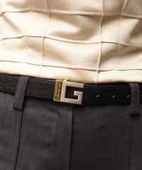 """Givenchy / vintage """"G"""" logo gold×silver belt."""