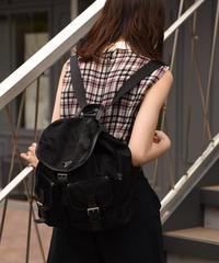 PRADA / vintage nylon  double pocket backpack.  (1)