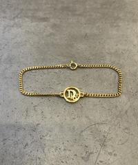Christian Dior/vintage round logo  gold bracelet