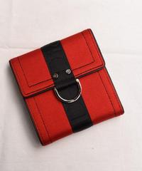Christian Dior / vintage logo tape design wallet.