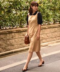 YSL / vintage round collar puff sleeve blouse.