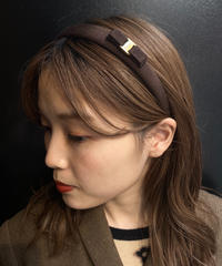Salvatore Ferragamo/vara ribbon  headband (brown).  2