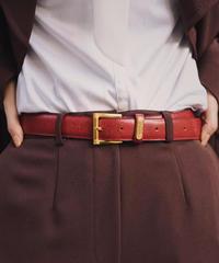 GIVENCHY/ vintage red leather belt