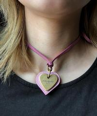 YvesSaintLaurent/ vintage leather charm necklace.  430023C
