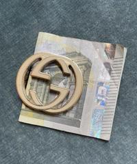 """GUCCI / vintage interlocking """"G"""" logo money clip."""