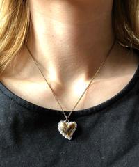 Vivienne Westwood/ vintagegold heart orb necklace .  430003C(U)
