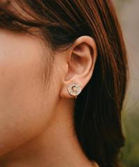 GIVENCHY /vintage G logo stone earring.