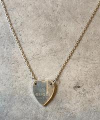 GUCCI/vintage heart motif necklace.