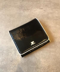 courreges/vintage white×black logo motif  wallet.(U)