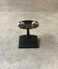 Vivienne Westwood/silver heart×orb motif pierce.