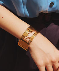 Ferragamo / Shoe motif gold bangle