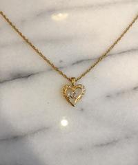 "nina ricci/vintage heart motif  ""NR"" logo necklace."