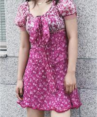 D&G/ Floral front ribbon dress