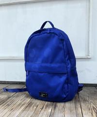 agnes b./ dot blue nylon backpack.