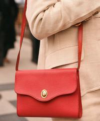 """Christian Dior/""""CD"""" logo leather shoulder bag."""