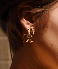 Salvatore Ferragamo/vintage gantini gold  earring.