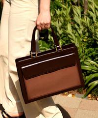 Yves Saint Laurent/  vintage square large hand bag.