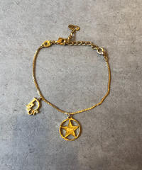 Christian Dior/vintage gold star motif bracelet.(心斎橋)