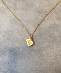 CELINE/vintage bag motif gold necklace.