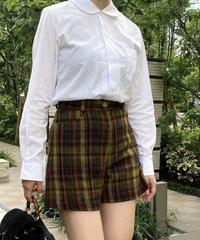 COMME des GARCONS / vintage round collar white shirt.