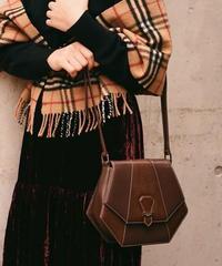 courreges/ pentagon leather shoulder bag .