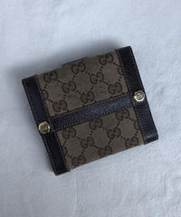 GUCCI / vintage monogram  design wallet.