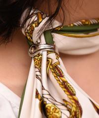 Salvatore Ferragamo /silver scarf ring