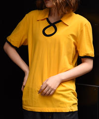 MOSCHINO/ vintage  design logo yellow shirt .