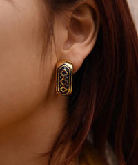 Burberry /vintage gold×blue earring.(U)