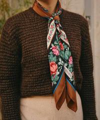 YSL/ vintage flower motif scarf.