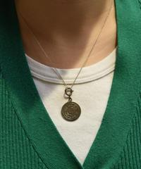 HERMES / vintage selier silver necklace.( medium, gloss)②