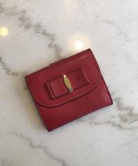 Salvatore Ferragamo / vara ribbon mini wallet (RED).414001C
