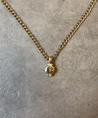GIVENCHY/vintage gold design motif necklace.