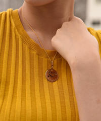 FENDI/ vintage heart motif round necklace.