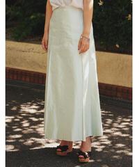 Max Mara / Light green silk skirt