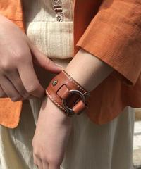 CELINE/vintage macadam leather bangle  belt .  4290034C
