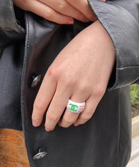 CHANEL/vintage coco mark ring. 430008T