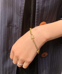 CELINE/vintage macadam gold bracelet .  4290036C