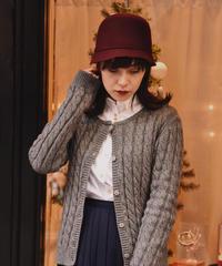 agnes.b/ bordeaux ribbon crochet hat.