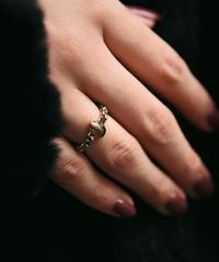 Christian Dior/silver chain diamond  ring.