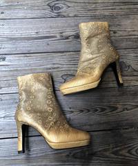FENDI/vintage python short boots.504004 C