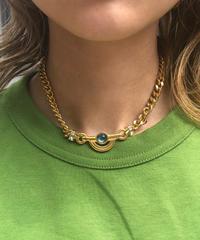 GIVENCHY/ vintage  chain design necklace.(gold)512018C