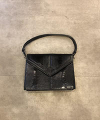 Yves Saint Laurent/vintage python design 2way bag